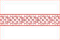 万字纹窗格移门图案 CDR