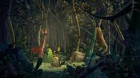 唯美仙气森林3D动画视频