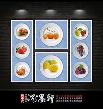 新中式餐厅水果装饰画