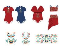 中国风泳衣图案设计