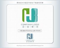 hb字母生物医药食品logo AI