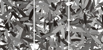 黑白树叶装饰移门图案