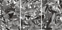 黑白叶子装饰移门图案