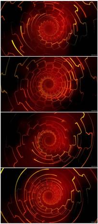 红色科技感虚拟光效隧道视频 mov