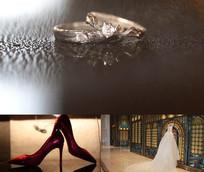 婚戒婚纱婚鞋嫁衣视频素材
