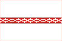 简约对称方格雕刻图案