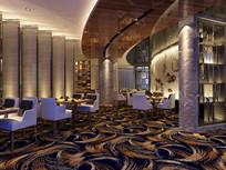酒店好多羽毛地毯夹层餐厅