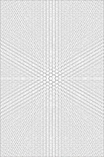立体发散六边形移门图案