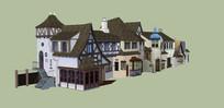 欧洲小屋子建筑