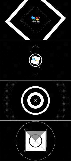 企业简约logo标志展示模板