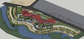曲型滨水公园概念设计模型