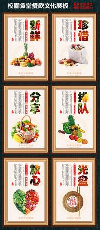 整套食堂文化展板设计