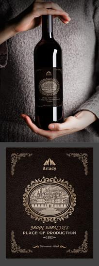 质感欧洲皇家贵族红酒标签