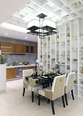 别墅开放式厨房餐厅设计