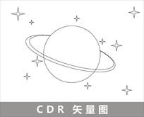 简约星空插画 CDR
