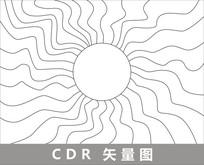 卡通夏日炎炎插画