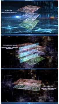 科幻演示图形处理动态视频素材
