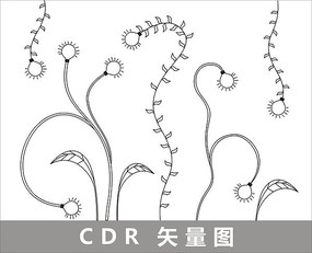 绿色节能创意线描插画