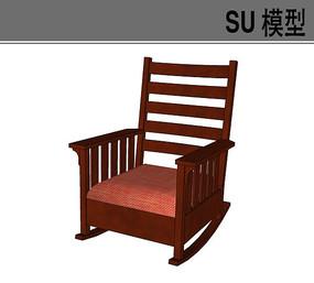 木质沙发靠背摇椅