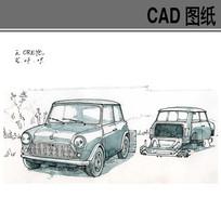 欧式古典汽车
