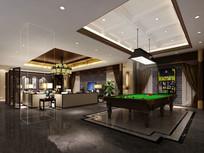 欧式室内台球室模型