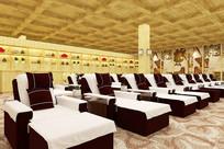 日式风格洗浴中心休息室模型
