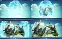 时空门穿越仙境动态视频素材