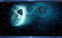 太空陨石来袭动态视频素材