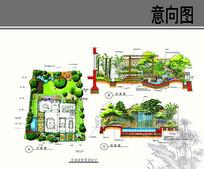 庭院瀑布水景设计