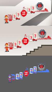 通用社区消防火警走廊文化墙