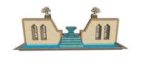 文化元素水景墙模型
