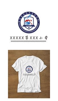 现代西式精英小学校徽设计