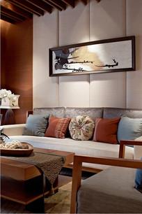 现代中式沙发背景墙装饰