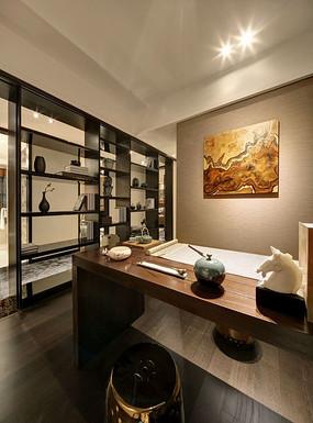 现代中式书房装修