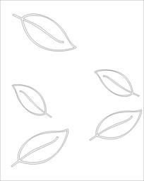 叶子图雕刻图案