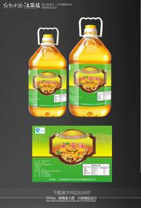 大豆油标签
