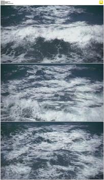 大海浪花实拍视频素材