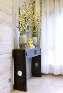 典雅中式边柜装饰