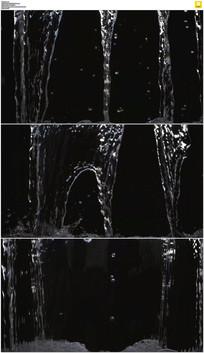 黑背景水流瀑布实拍视频素材