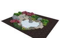 简约观赏水池SU模型