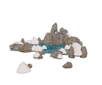 简约假山水池SU模型