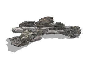 假山叠石模型