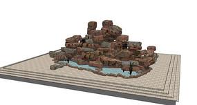 假山叠石水池