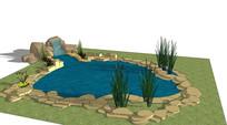 假山跌水水池