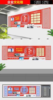 经典大气红色企业文化墙