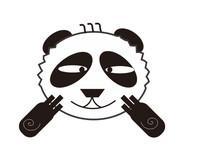 可爱卡通大熊猫插画设计