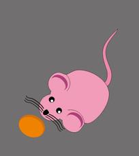可爱卡通小老鼠插画设计