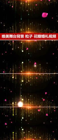 粒子下落玫瑰花瓣柔美梦幻舞台视频