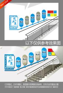 楼梯间企业文化墙
