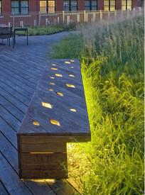 特色木质室外坐凳